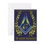 Masonic 50 year congratulations Greeting Cards (Pk