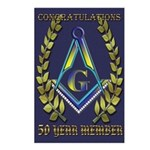 Masonic 50 year congratulations Postcards (Package