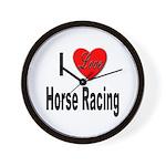 I Love Horse Racing Wall Clock