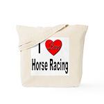 I Love Horse Racing Tote Bag