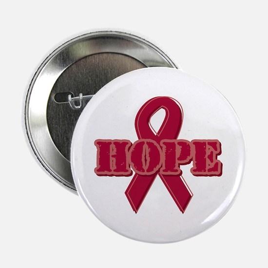 "Burgundy Hope Ribbon 2.25"" Button"