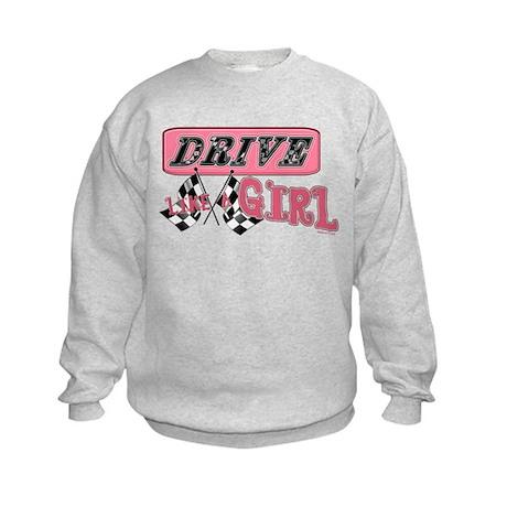 Drive Like A Girl Kids Sweatshirt
