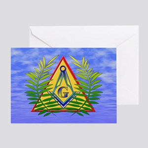 Masonic Acacia & Sky Greeting Card