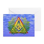 Masonic Acacia & Sky Greeting Cards (Pk of 20)