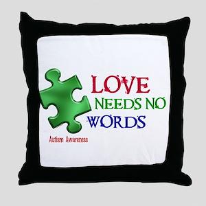 Love Needs No Words 1 Throw Pillow