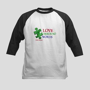 Love Needs No Words 1 Kids Baseball Jersey
