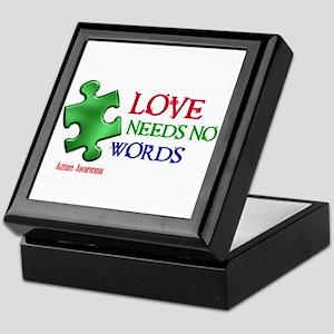 Love Needs No Words 1 Keepsake Box