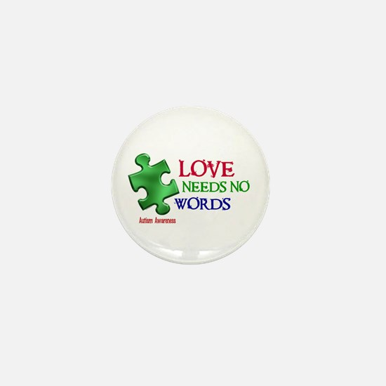 Love Needs No Words 1 Mini Button