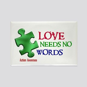 Love Needs No Words 1 Rectangle Magnet