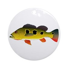 Butterfly Peacock Bass Round Ornament