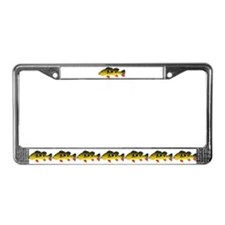 Butterfly Peacock Bass License Plate Frame