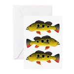 Butterfly Peacock Bass Greeting Cards