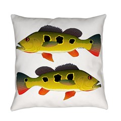 Butterfly Peacock Bass Everyday Pillow