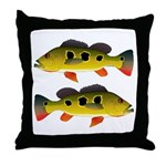 Butterfly Peacock Bass Throw Pillow