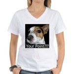JRT Your Point? Women's V-Neck T-Shirt