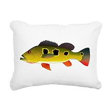 Butterfly Peacock Bass Rectangular Canvas Pillow