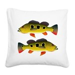Butterfly Peacock Bass Square Canvas Pillow