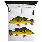 Butterfly Peacock Bass Queen Duvet