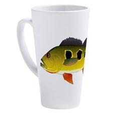Butterfly Peacock Bass 17 oz Latte Mug