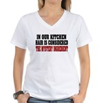 In Our Kitchen Women's V-Neck T-Shirt