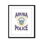 Aruba Police Framed Panel Print