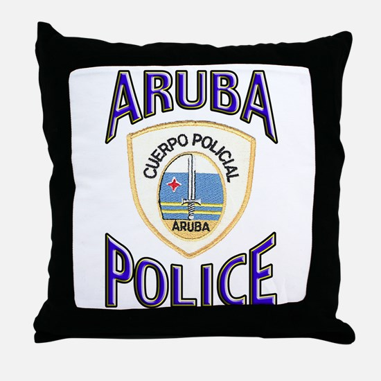 Aruba Police Throw Pillow