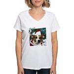Santa Jack Women's V-Neck T-Shirt