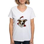 JRT Christmas Santa Women's V-Neck T-Shirt