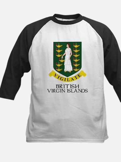 BVI Coat of Arms Kids Baseball Jersey