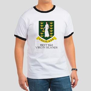 BVI Coat of Arms Ringer T