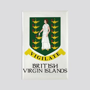 BVI Coat of Arms Rectangle Magnet