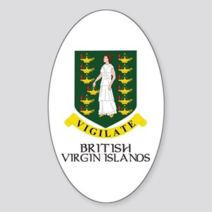 BVI Coat of Arms Oval Sticker
