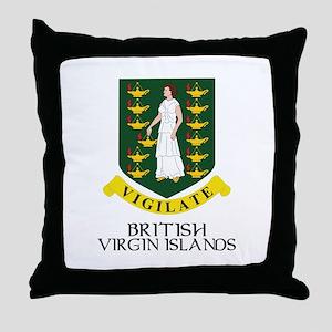 BVI Coat of Arms Throw Pillow