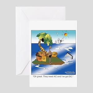 AC/DC Island Greeting Card