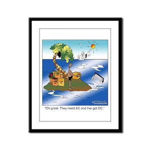 AC/DC Island Framed Panel Print