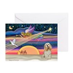 XmasStar/Cocker(wh) Greeting Cards (Pk of 10)