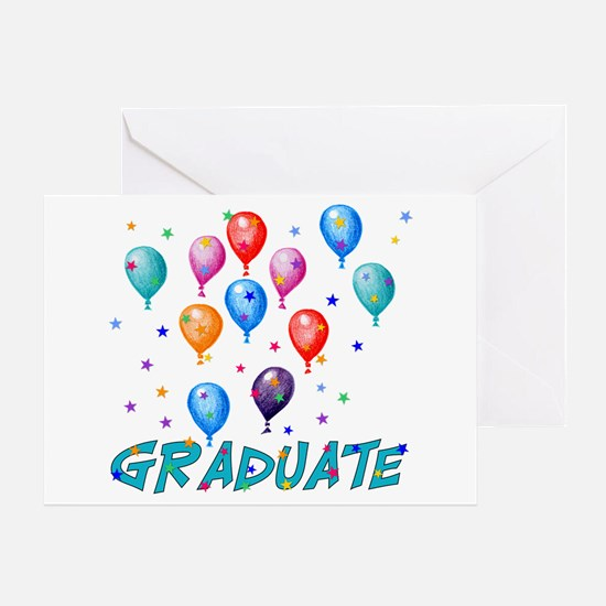 Graduation Balloons Greeting Card