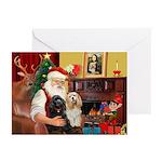 Santa's 2 Cockers Greeting Cards (Pk of 20)