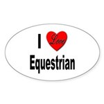 I Love Equestrian Oval Sticker (10 pk)