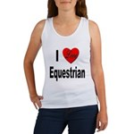 I Love Equestrian (Front) Women's Tank Top