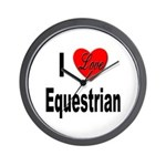I Love Equestrian Wall Clock