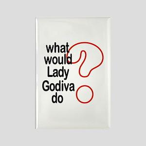 Lady Godiva Rectangle Magnet