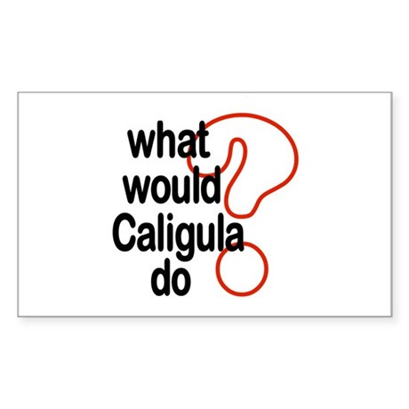 Caligula Rectangle Sticker