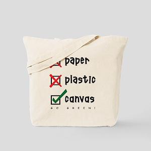Go Green Canvas Bag Tote Bag