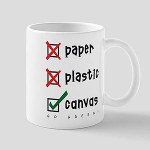Go Green Canvas Bag Mug