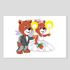 Bride & Groom Teddy's Postcards (Package of 8)