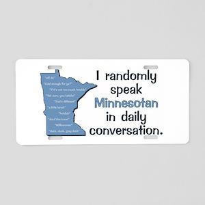 Random Minnesotan Aluminum License Plate