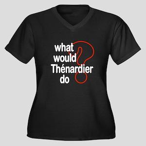 Thénardier Women's Plus Size V-Neck Dark T-Shirt