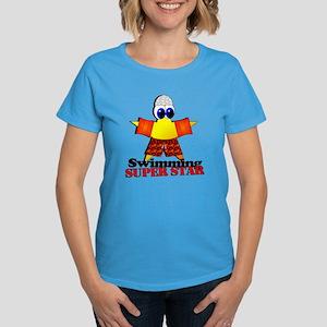 Swimming Super Star Women's Dark T-Shirt