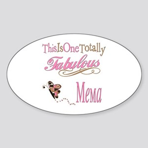Fabulous Mema Oval Sticker